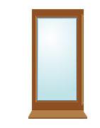 Серое окно 600х1200мм