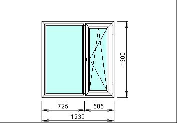 Готовое пластиковое окно Rehau 1230 х 1300 мм
