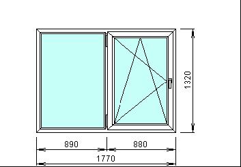 Готовое пвх окно 1770 х 1320 мм
