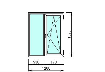 Готовое окно Рехау 1200 х 1520 мм