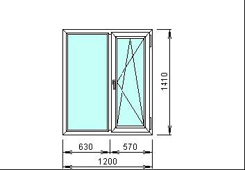 Готовое пвх окно Rehau 1200х1410 мм