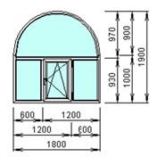 Арочное окно трехстворчатое