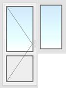 Балконный блок 2200х1400мм