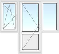 Балконный блок 2200х2100мм