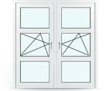 Двустворчатое окно, поворотное