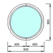 Круглое окно 800 на 800мм