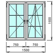 Окно в коттедж 1500х1500мм