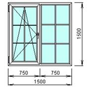 Окно для загородного дома 1500х1500мм