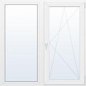 Окно двухстворчатое REHAU BLITZ