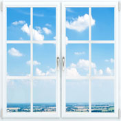 Верандное окно с раскладкой 1200 на 1400мм