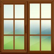 Окно в коттедж кашированное 1500×1600мм