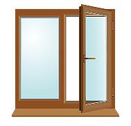Коричневое окно 1200×1200мм