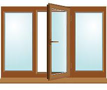 Окно с ламинацией 2000x1400мм