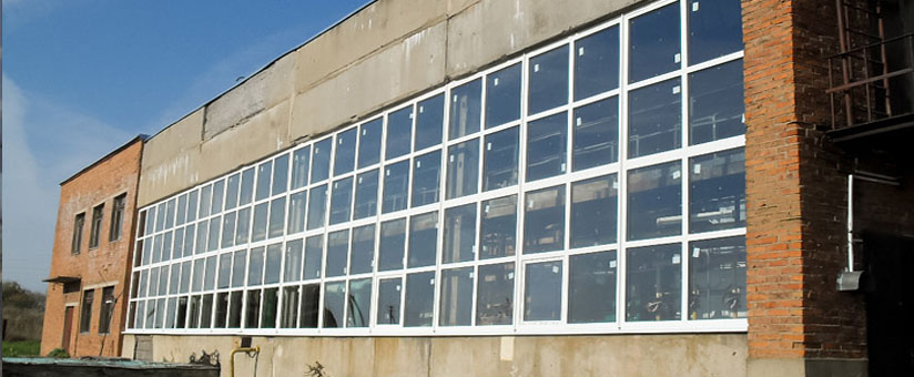 Остекление промышленных зданий