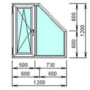 Трапецевидное окно 1200×1200мм