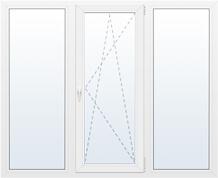 Окно трехстворчатое поворотно-откидное 1800х1200мм