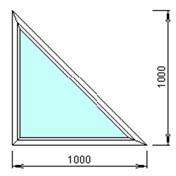 Треугольное окно 1000 на 1000мм