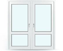 Входная дверь ПВХ 2000 на 1500мм