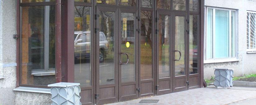 Цветные входные двери пвх