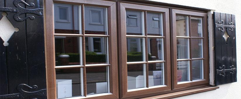 Кашированные окна EURO Design