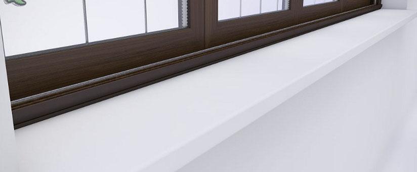 Белый подоконник для пласликового окна