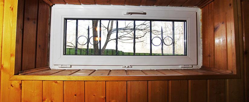 Окно ПВХ с фрамугой