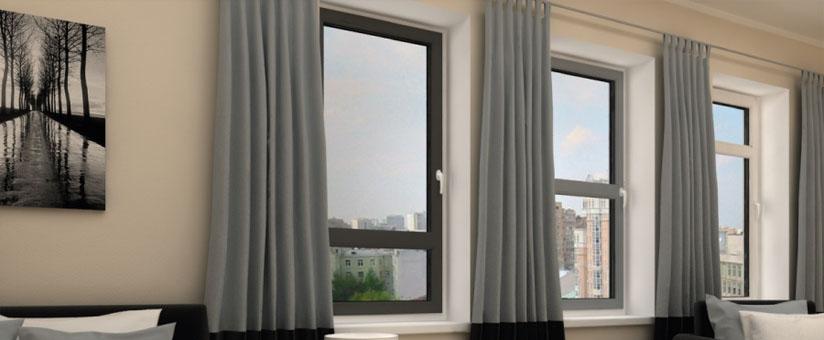 Серые окна